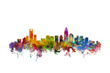 Charlotte North Carolina Skyline Reproduction d'art par Michael Tompsett