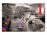 San Antonio River Walk Reproduction d'art