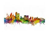 Sydney Australia Skyline Reproduction d'art par Michael Tompsett