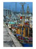 Fishermen in dock