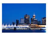 Vancouver Bc Evening Skyline