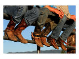 Wranglers boots at Rodeo Idaho