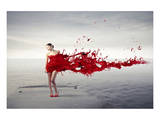 Dress Melting In Red Paint