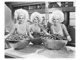 Three Women Bowls of Donuts