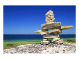 Inukshuk On Georgian Bay Shore
