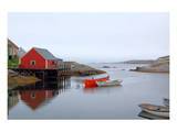 Peggy's Cove Harbour Cloudy