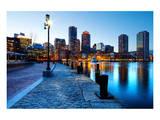Boston Harbor & Downtown Dusk