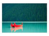 Canoes on Lake Louise Banff AB