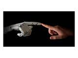Robot & Human Fingers Touching
