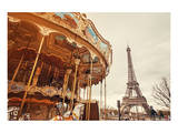 Carousel & Eiffel Tower-Sunset
