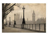 Vintage London Big Ben Thames