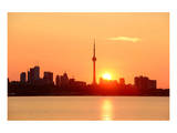 Toronto Sunrise Skyline & Lake