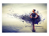 Girl Dress Becomes Paint &Pier