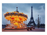 Vintage Carousel Eiffel Tower