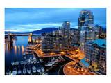 Nightfall Vancouver Canada