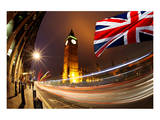 Big Ben With Flag Of England