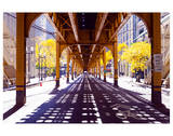 Chicago Street-Elevate Train