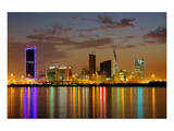 Bahrain Highrises Reflections