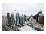 Elevated View Downtown Toronto