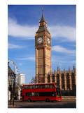 Big Ben City Bus In London Uk