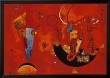 Pour et contre, vers 1929 Reproduction encadrée par Wassily Kandinsky