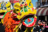 Chinese Lion during Golden Dragon Parede