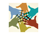 Colorful Raised Hands the Concept of Diversity Group of Hands Giving Concept this Work - Eps10