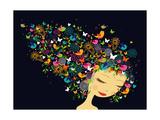 Beautiful Women Abstract Hair Illustration
