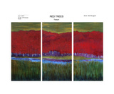 Red Trees Triptych Complete Set