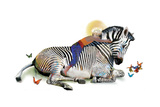 Zebra Love Reproduction d'art par Nancy Tillman