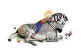 Zebra Love Reproduction d'art par Nancy Tillman