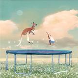 Jumping With Kangaroo Reproduction d'art par Nancy Tillman