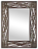 Dorigrass Brown Metal Mirror *