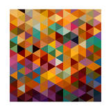 Vintage Triangles Seamless Pattern Background Eps10 File