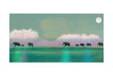 Marche des éléphants Reproduction d'art par Nancy Tillman