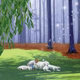 Asleep With Sheep Reproduction d'art par Nancy Tillman