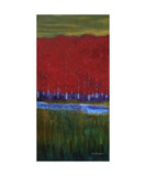 Red Trees Triptych Left Panel