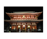 Senso-ji temple at night  Tokyo  Japan