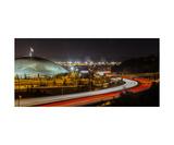 Tacoma Dome and I5 at night