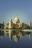 Reflection of a Museum in Water  Victoria Memorial  Kolkata  West Bengal  India