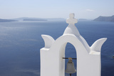 Bell Tower with Caldera in the Distance  Oia  Santorini Island  Cyclades Islands  Greek Islands  Gr