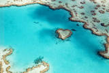 Heart Reef in the Great Barrier Reef Marine Park  Whitsunday Islands  Coral Sea  World Heritage Are