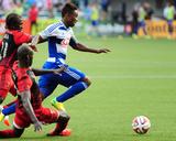 Jun 11  2014 - MLS: FC Dallas vs Portland Timbers - Diego Chara  Fabian Castillo  Pa Modou Kah