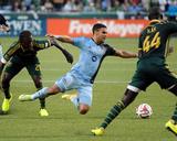 Jun 27  2014 - MLS: Sporting KC vs Portland Timbers - Diego Chara  Dom Dwyer