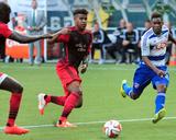 Jun 11  2014 - MLS: FC Dallas vs Portland Timbers - Fabian Castillo  Pa Modou Kah