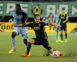Jun 27  2014 - MLS: Sporting KC vs Portland Timbers - Will Johnson  CJ Sapong
