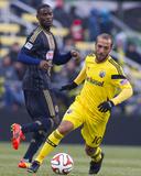 Mar 22  2014 - MLS: Philadelphia Union vs Columbus Crew - Maurice Edu  Federico Higuain