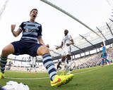 Jul 19  2014 - MLS: Los Angeles Galaxy vs Sporting KC - Lawrence Olum  Matt Besler