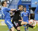 Jun 11  2014 - MLS: DC United vs Montreal Impact - Wandrille Lefevre  Fabian Espindola