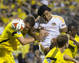 Aug 23  2014 - MLS: Houston Dynamo vs Columbus Crew - Ricardo Clark  Adam Bedell